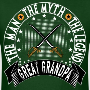 GREAT GRANDPA THE MAN THE MYTH THE LEGEND T-Shirts - Men's T-Shirt