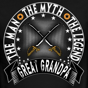 GREAT GRANDPA THE MAN THE MYTH THE LEGEND T-Shirts - Men's Ringer T-Shirt