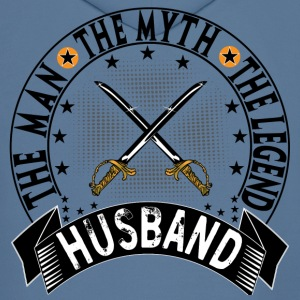 HUSBAND THE MAN THE MYTH THE LEGEND Hoodies - Men's Hoodie