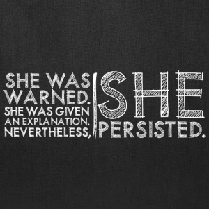 Nevertheless She Persisted #LetLizSpeak - Tote Bag