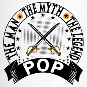 POP THE MAN THE MYTH THE LEGEND Mugs & Drinkware - Travel Mug