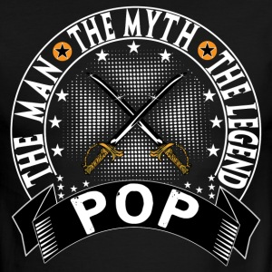 POP THE MAN THE MYTH THE LEGEND T-Shirts - Men's Ringer T-Shirt