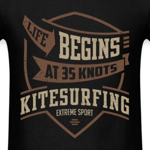 Life Begins at 35 Kitesurfing T-shirt  - Men's T-Shirt
