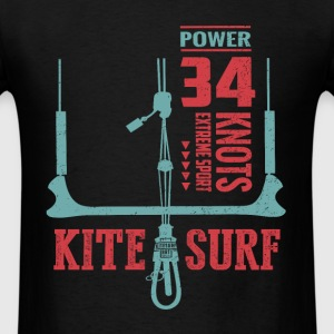 Kitesurfing T-shirt | Power 34 Knots - Men's T-Shirt