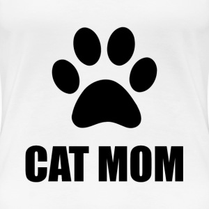 Cat Mom Paw - Women's Premium T-Shirt
