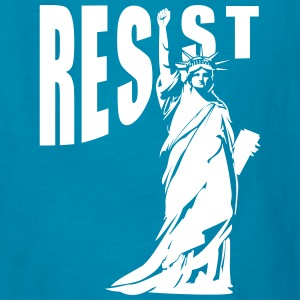lady liberty resist fist Kids' Shirts - Kids' T-Shirt