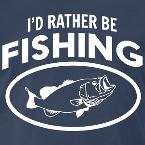 I'd rather be fishing T-Shirts - Men's Premium T-Shirt
