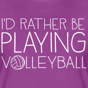I'd rather be playing volleyball T-Shirts - Women's Premium T-Shirt