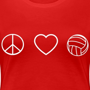 Peace love volleyball T-Shirts - Women's Premium T-Shirt
