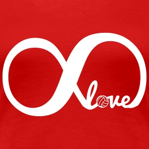 Infinity love volleyball T-Shirts - Women's Premium T-Shirt