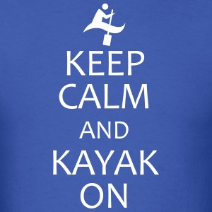 keep calm and kayak on t-shirt - Men's T-Shirt