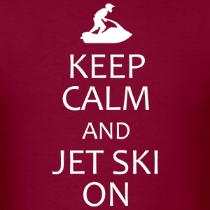 keep calm and jet ski on t-shirt - Men's T-Shirt