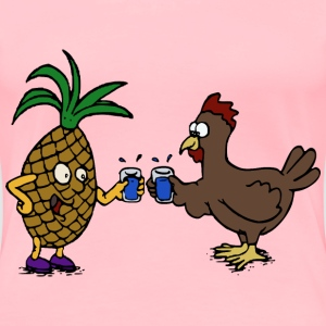 Pineapple and Chicken Cheers! - Women's Premium T-Shirt