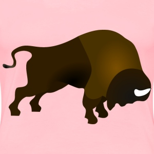 Bucking Bison in Colour - Women's Premium T-Shirt