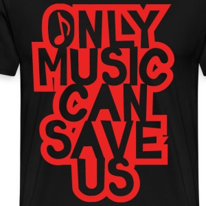 only music red - Men's Premium T-Shirt