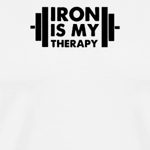 Iron is My Therapy - Men's Premium T-Shirt