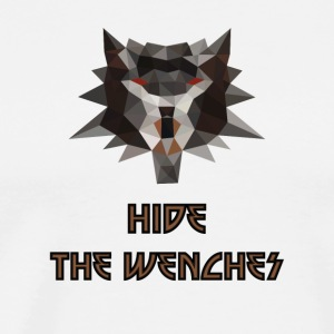 Witcher low poly hide the wenches - Men's Premium T-Shirt
