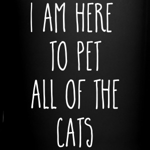 Pet All The Cats Funny Quote  Mugs & Drinkware - Full Color Mug