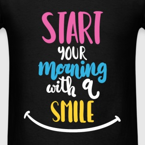 Inspiration - Start your morning with a smile - Men's T-Shirt
