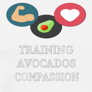 Training, Avocados & Compassion - Men's Premium T-Shirt