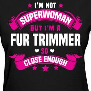 Fur Trimmer Tshirt - Women's T-Shirt