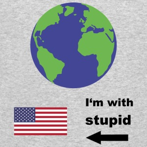 Earth - I'm with stupid usa T-Shirts - Men's 50/50 T-Shirt
