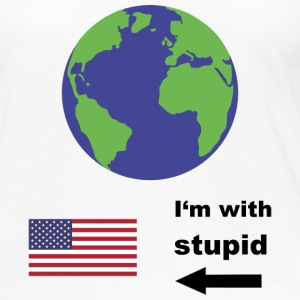 Earth - I'm with stupid usa Long Sleeve Shirts - Women's Premium Long Sleeve T-Shirt