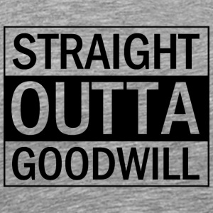Straight Outta Goodwill (black) - Men's Premium T-Shirt