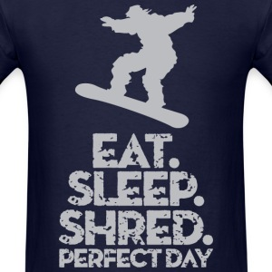 Snowboarder Shred T-Shirts - Men's T-Shirt