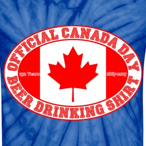 OFFICIAL CANADA DAY BEER DRINKING SHIRT 150 - Unisex Tie Dye T-Shirt