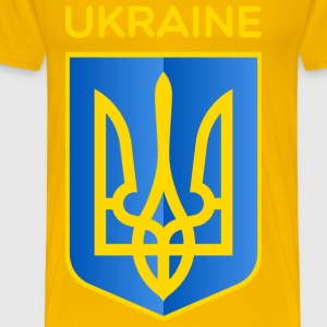 Ukraine Coat of Arms - Men's Premium T-Shirt