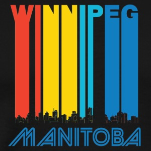 Retro Winnipeg Manitoba Canada Skyline - Men's Premium T-Shirt
