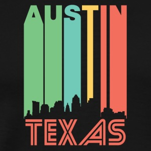 Retro Austin Skyline - Men's Premium T-Shirt