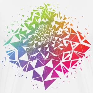 Geometric Rainbow - Men's Premium T-Shirt