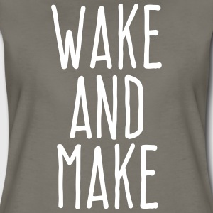 wake and make T-Shirts - Women's Premium T-Shirt