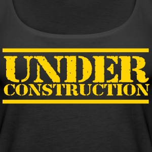 under construction workout tank top - Women's Premium Tank Top