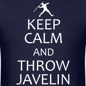 keep calm and throw javelin shirt - Men's T-Shirt
