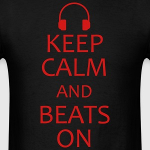 keep calm and headphones on shirt - Men's T-Shirt