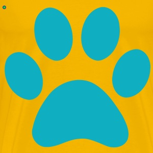 blue PAW PRINT - Men's Premium T-Shirt