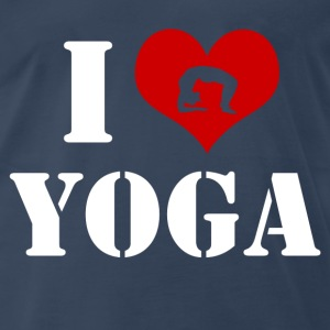 love yoga 22'.png T-Shirts - Men's Premium T-Shirt