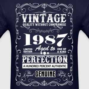 Premium Vintage 1987 Aged To Perfection T-Shirts - Men's T-Shirt