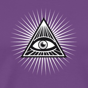 illuminati All Seeing Eye Food Humor Fun pyramid - Men's Premium T-Shirt