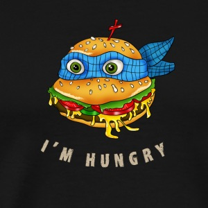 hamburger turtle fast food pizza humor fun comic h - Men's Premium T-Shirt