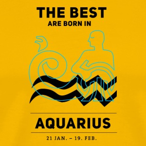 aquarius horoscope januar birthday astrology previ - Men's Premium T-Shirt