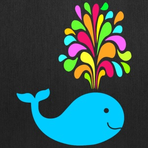 Funny colorful whale Bags & backpacks - Tote Bag