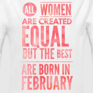 design a birthday t shirt women born in februari Baby Bodysuits - Long Sleeve Baby Bodysuit