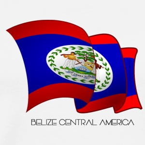 Belize Flag - Men's Premium T-Shirt