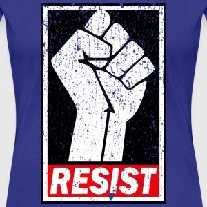 RESIST DISTRESSED STYLE T-Shirts - Women's Premium T-Shirt