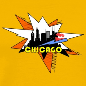 Chicago Pop Art Skyline - Men's Premium T-Shirt