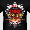 May 1982 35 Years of Being Awesome - Men's T-Shirt